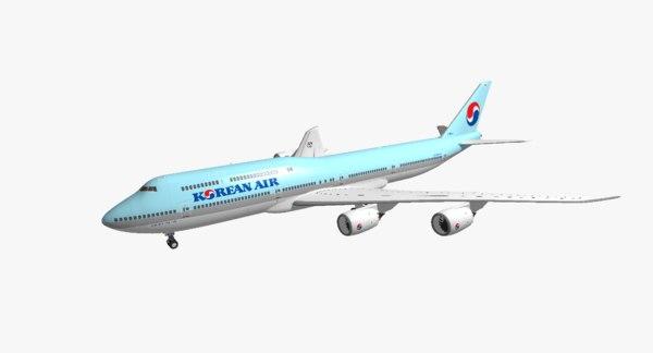 boeing 747-8i korean air obj