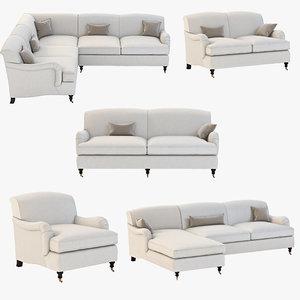 sofa joybird robin 3d model