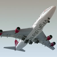 3d model boeing 747-400 plane virgin atlantic