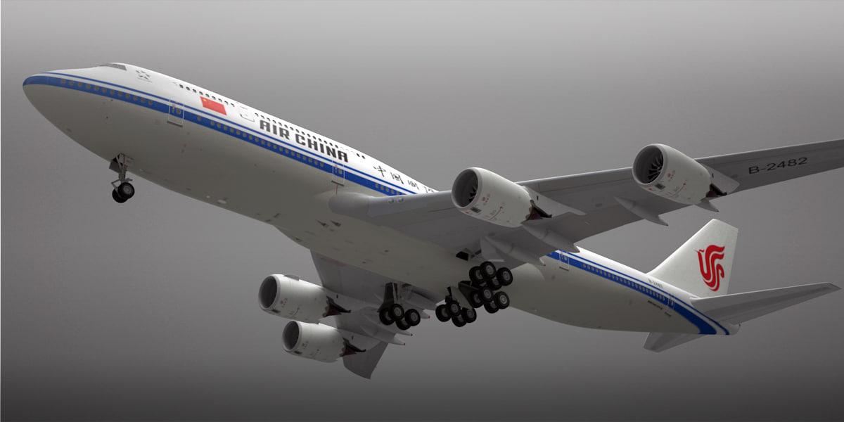 boeing 747-8 plane air 3d lwo