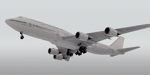 3d model boeing 747-8 plane