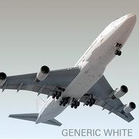 Boeing 747-400 Genérico Branco