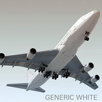 Boeing 747-400 Generic White