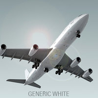 airbus a340-200 plane generic 3d model