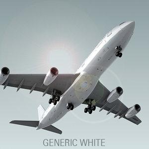 airbus a340-200 plane generic 3d model