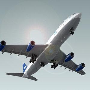 3d model airbus a340-200 plane aerolineas