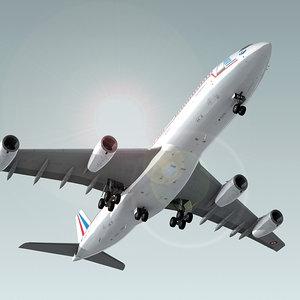 airbus a340-200 plane republique max