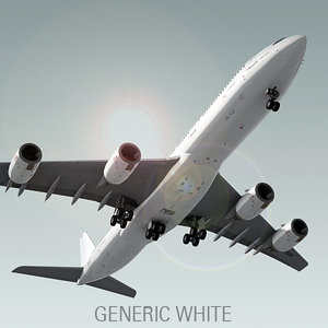 3d model airbus a340-500 plane generic