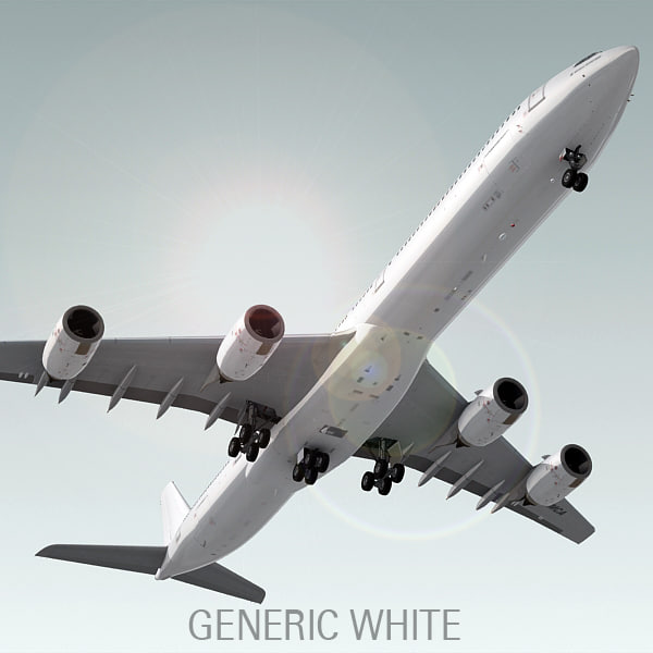 airbus a340-600 plane generic 3d model