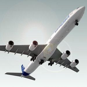 airbus a340-600 plane 3d max