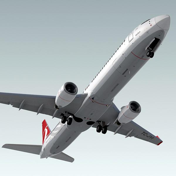 boeing 737-900 er plane 3d max