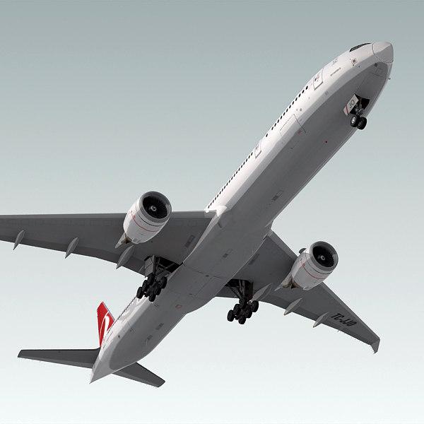3d boeing 777-300 er plane model