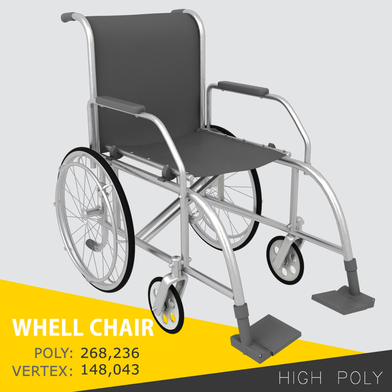 chair wheelchair 3d model