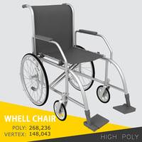 chair wheelchair 3d model