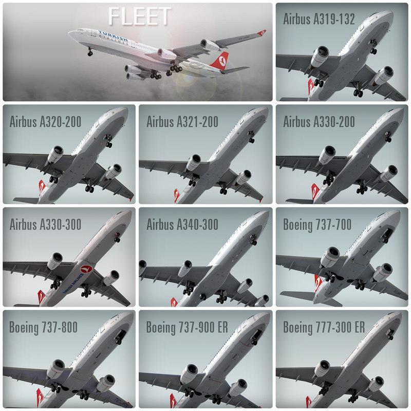 plane turkish airlines fleet max