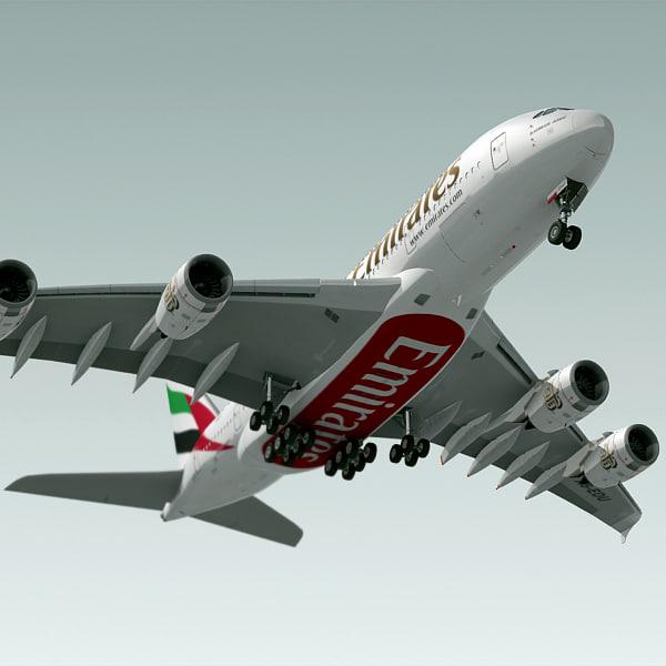 airbus a380 plane emirates lwo