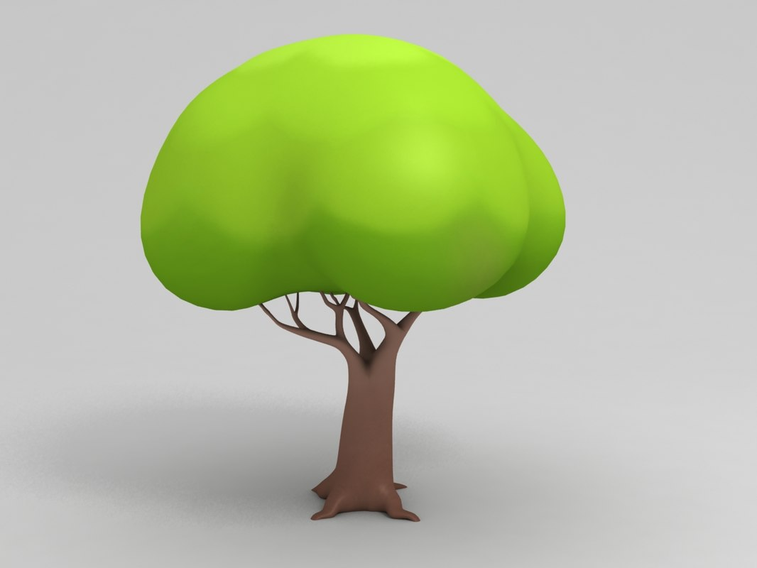 simple tree cartoon 3d max