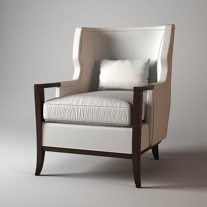 baker manor wing chair 3d model