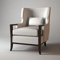 baker manor wing chair 3d model