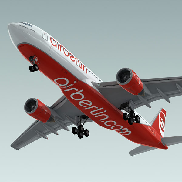 3d model of airbus a330-200 plane airberlin