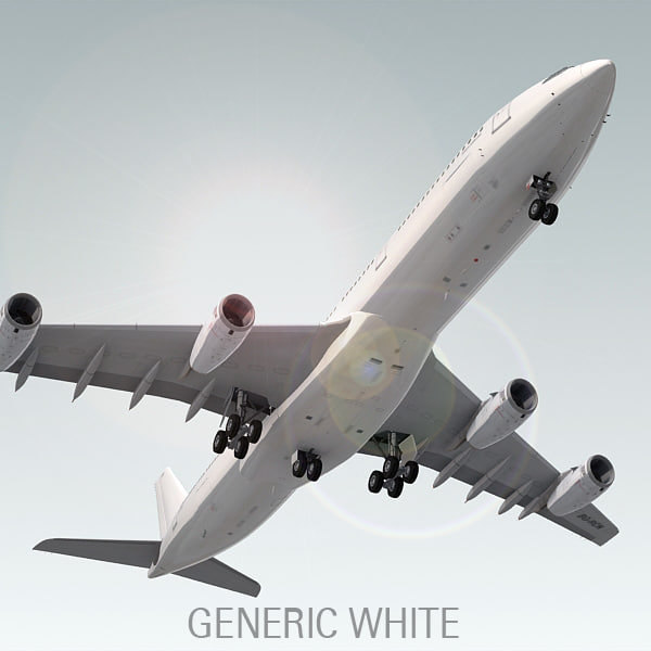 airbus a340-300 plane generic 3d model