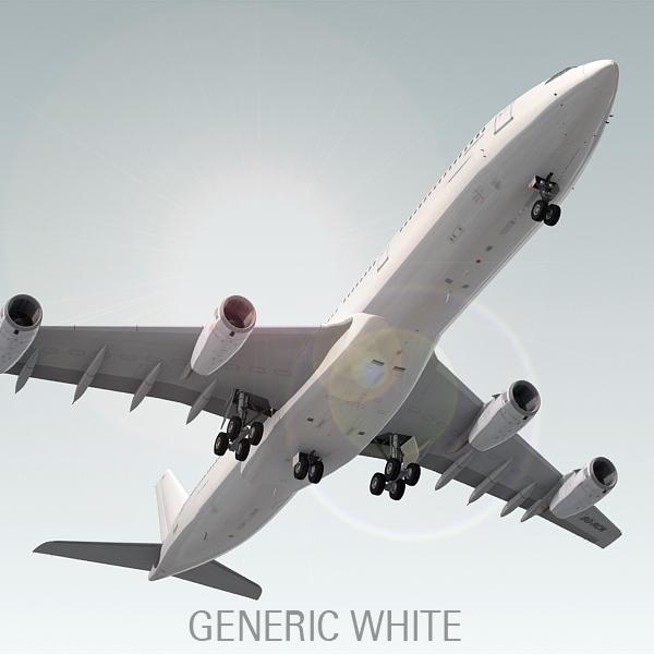 airbus a340-300 plane generic 3d model
