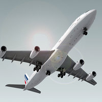 airbus a340-300 plane air france 3d obj