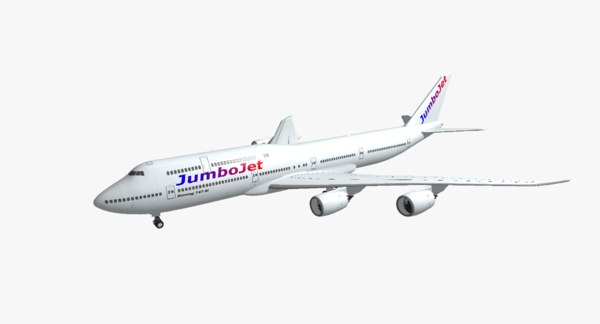 boeing 747-8i jumbo jet 3d obj