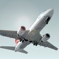3d model of 737-700 turkish airlines