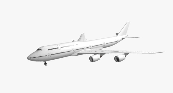 3d model boeing 747-8i unmarked