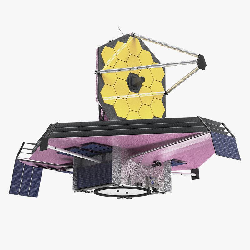 3D james webb space telescope model