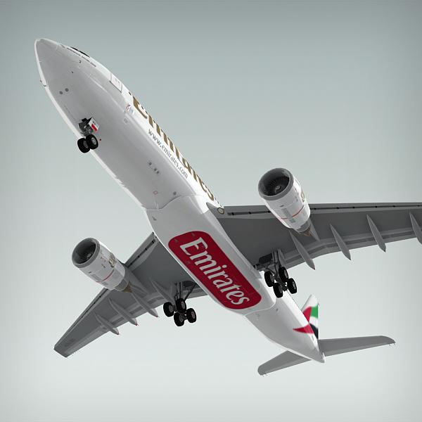 airbus a330-200 plane emirates 3d model