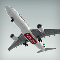 airbus a330-200 plane emirates 3d model