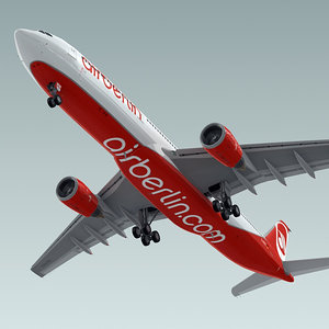 airbus a330-300 plane airberlin 3d model