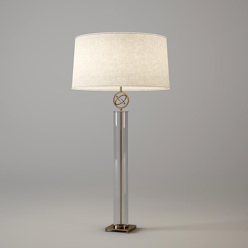 3d baker orb table lamp