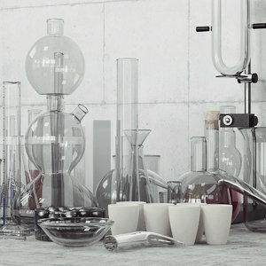 3d flasks model