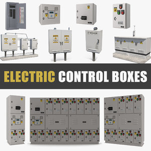 electric control boxes 3D model