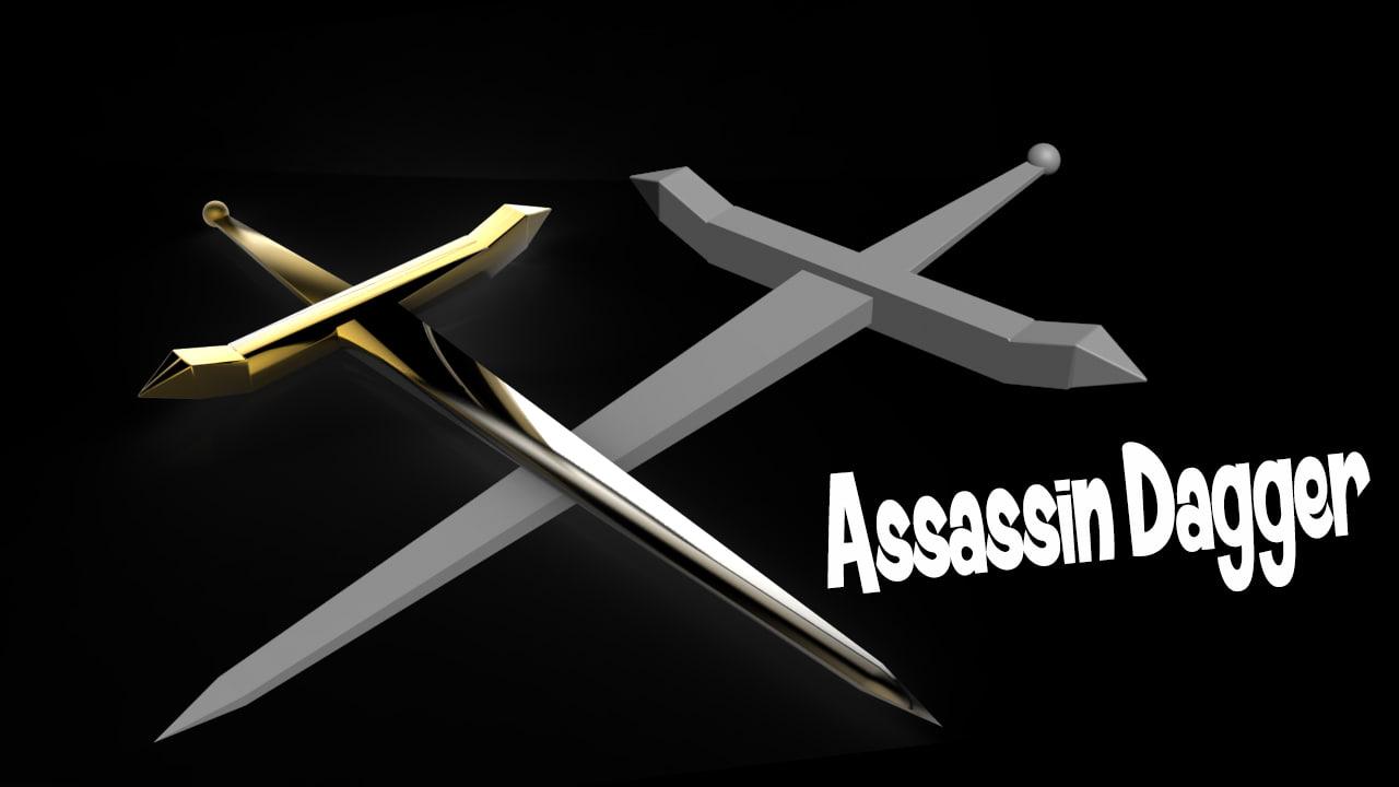 3d model medieval dagger