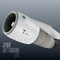 jt9d jet engine lite 3d model