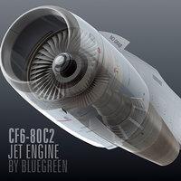 3d cf6-80c2 jet engine