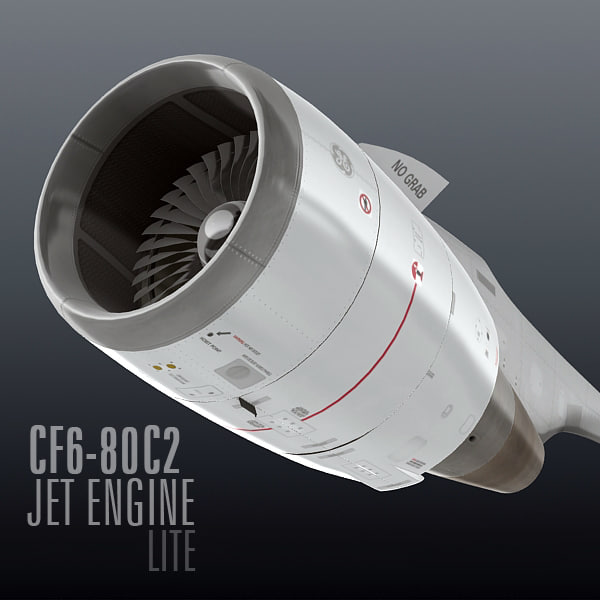 3d cf6-80c2 jet engine lite