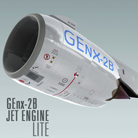 genx-2b jet engine lite 3d max