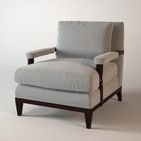 3d model baker penn lounge chair