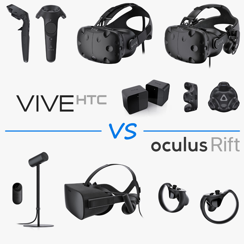 3d model htc vive oculus rift
