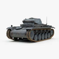 3d 3ds german ww2 panzer 2 tank