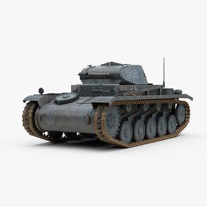 3d 3ds german ww2 panzer 2 tank