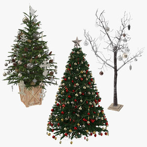 3D christmas trees 01