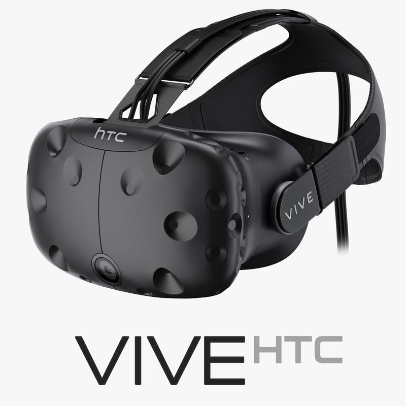 htc vive headset 3d max