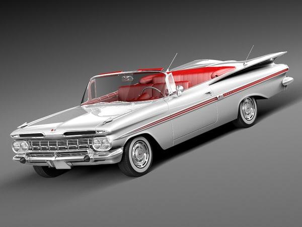 chevrolet impala convertible 1959 3d model