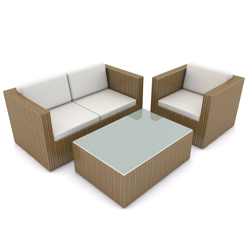 3d patio furniture beliani model